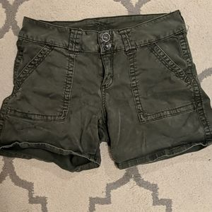 Dark Green Short Cargo Shorts